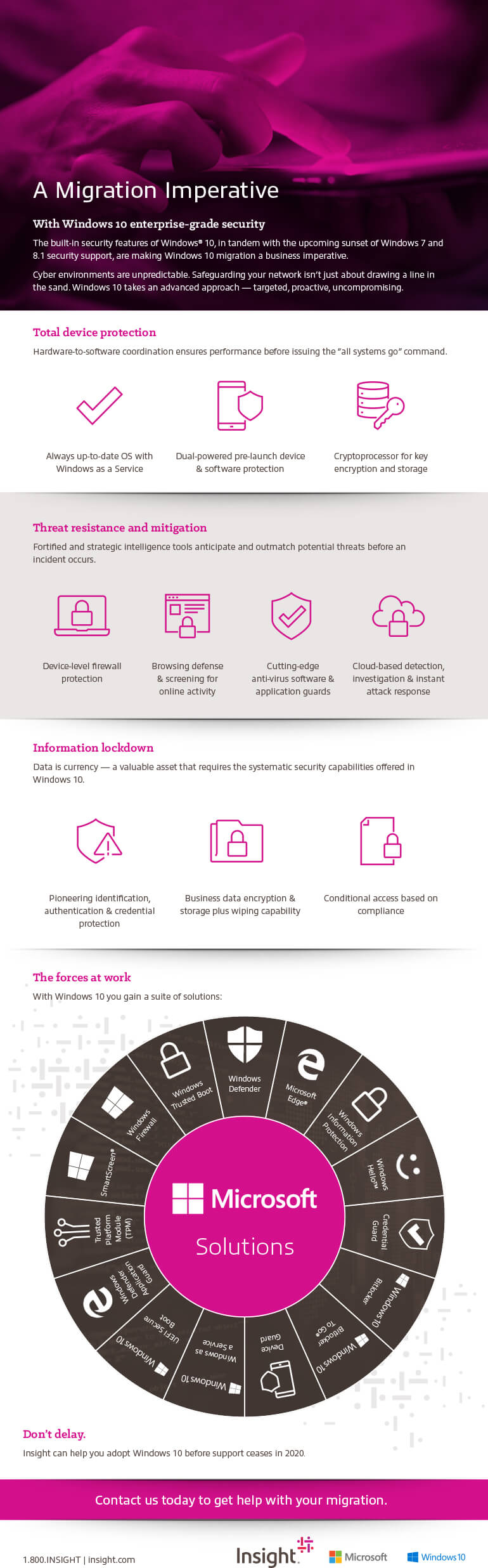 A Migration Imperative With Windows 10 Enterprise-Grade Security inforgraphic