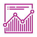 Illustrated icon showing a graph moving upwards