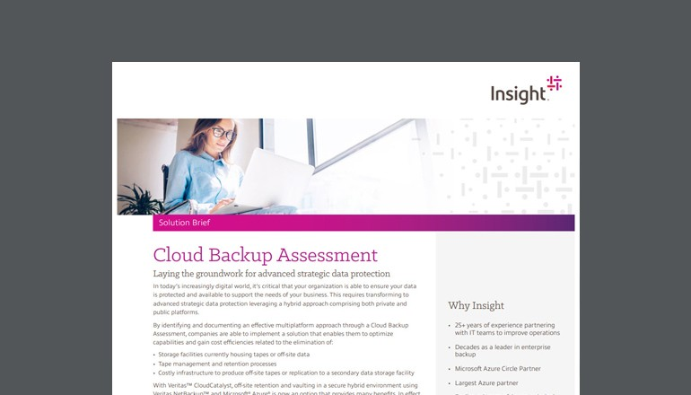 Cloud Backup Assessment brief thumbnail
