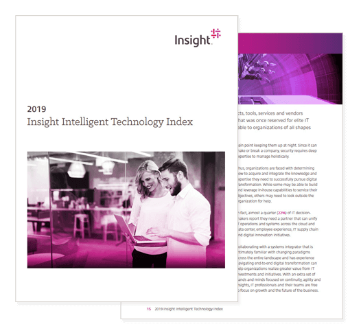 2019 Insight Intelligent Technology Index cover, which you can register to download from this page